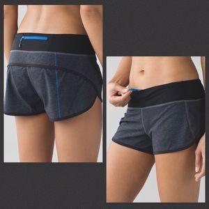 Lululemon Speed Shorts Black Blue 4